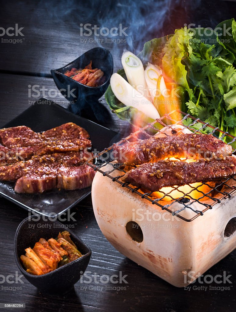 Korean Barbecue or Yakiniku stock photo