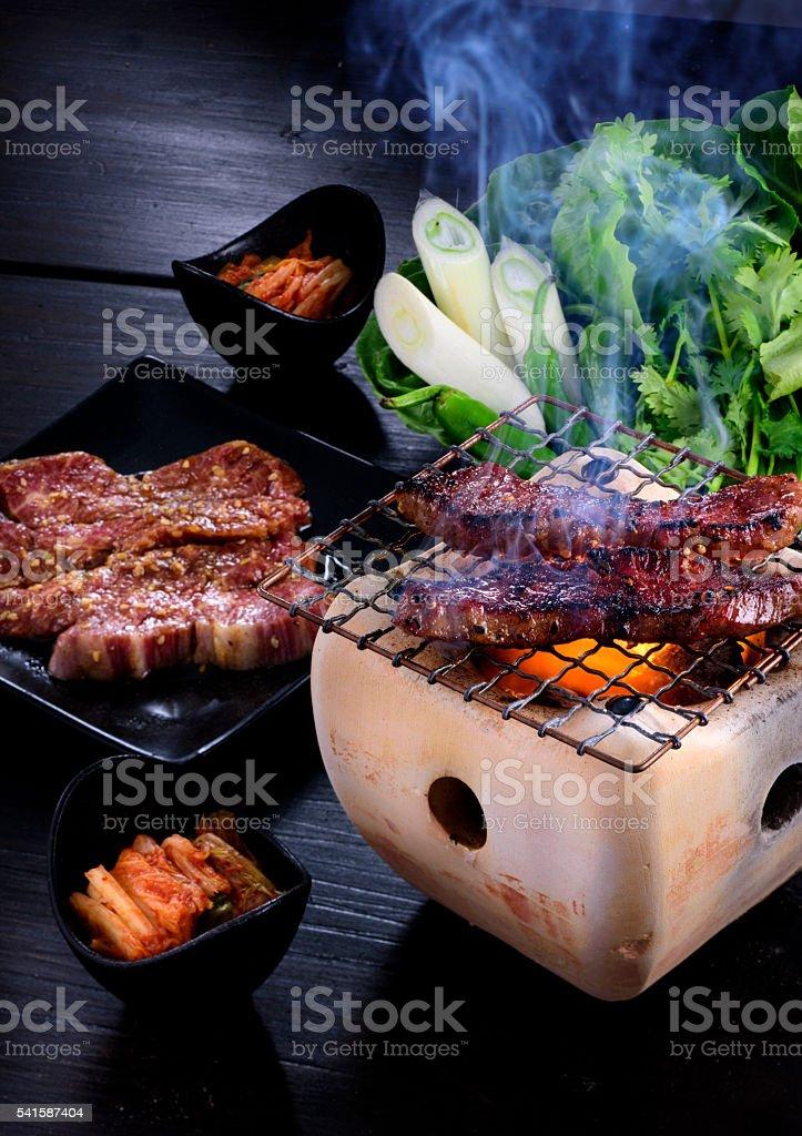 Korean Barbecue or Yakiniku stock photo