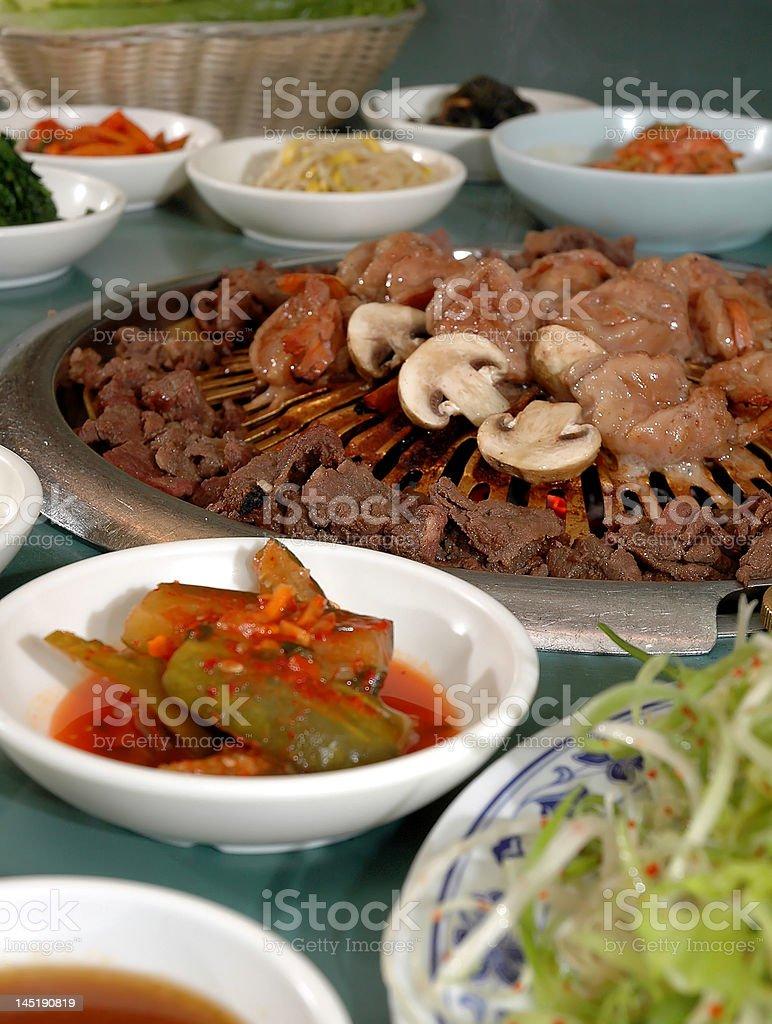 Korean BBQ royalty-free stock photo