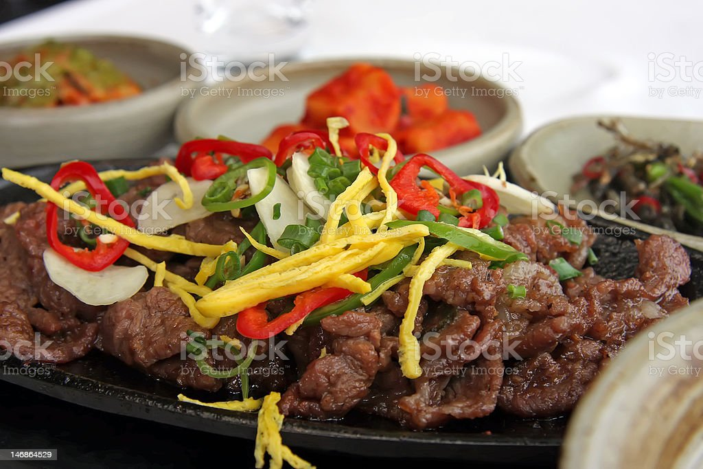 Korean bulgogi royalty-free stock photo