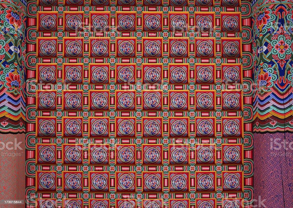 Korean Ceiling Decoration royalty-free stock photo