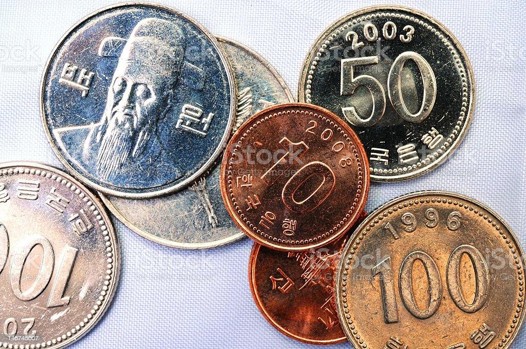 korean coin royalty-free stock photo