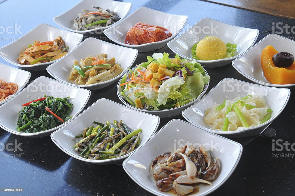 Korean cuisine dishes stock photo
