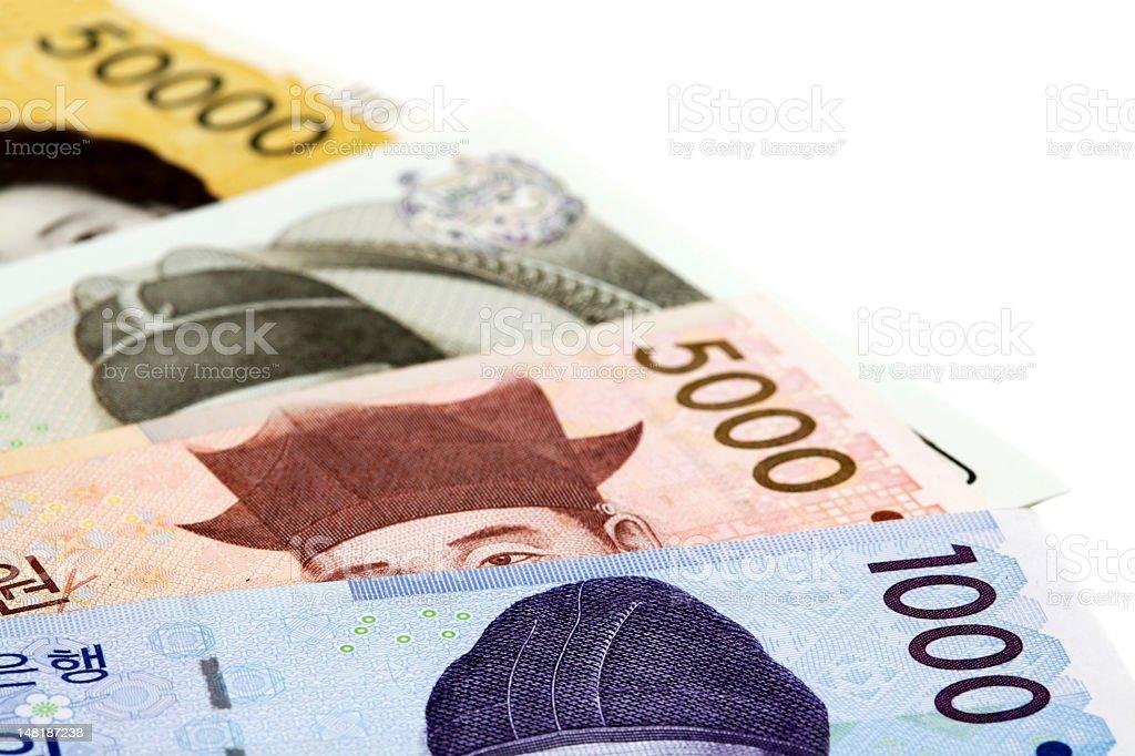 Koreanischer Geldschein Lizenzfreies stock-foto