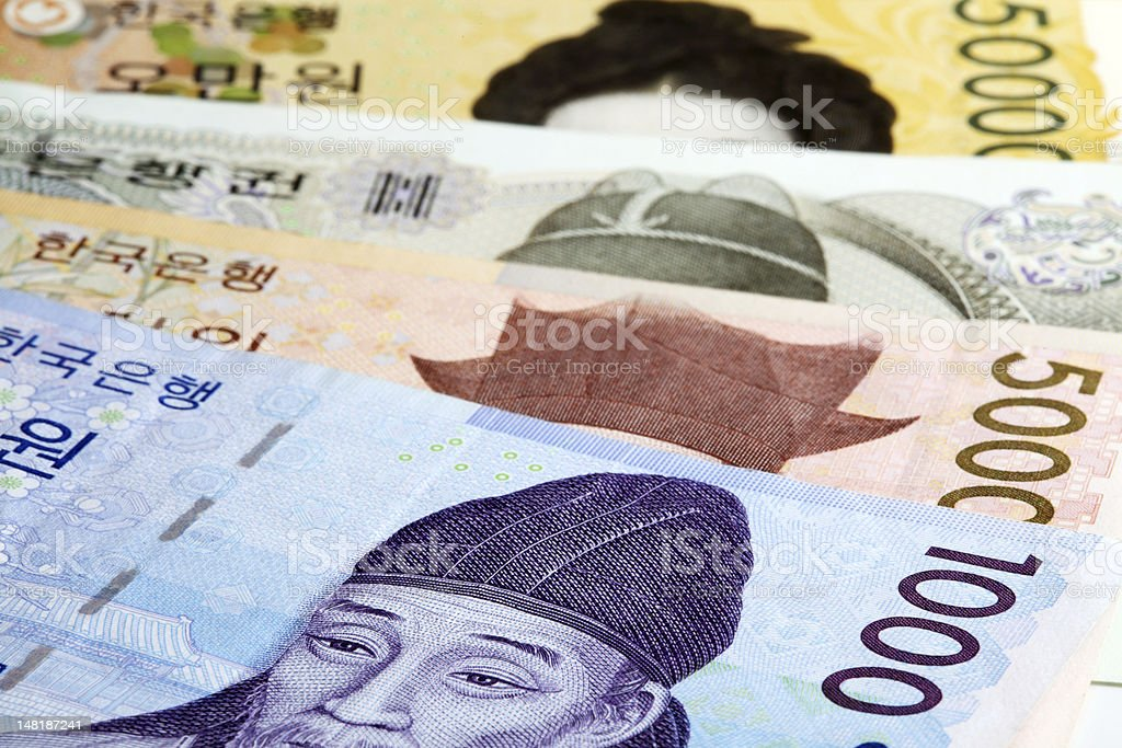 Korean Currency stock photo