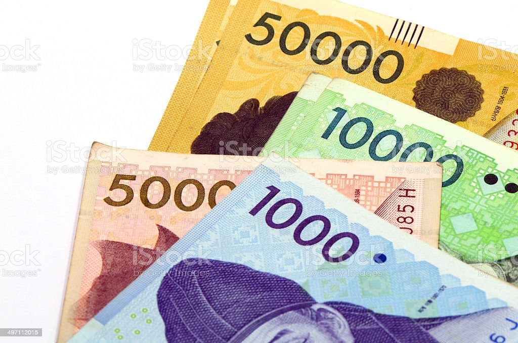 Korean Currency. royalty-free stock photo