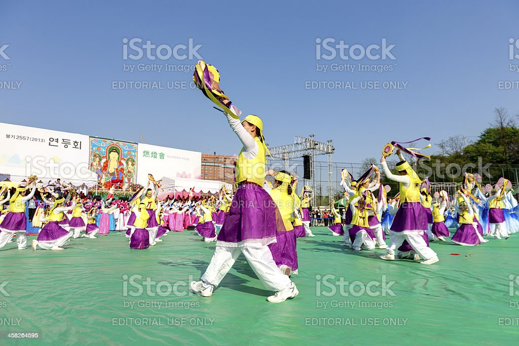 Korean dance royalty-free stock photo