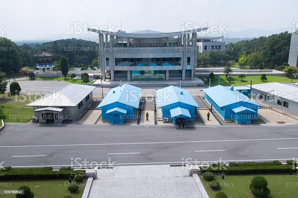 Korean Demilitarized Zone (DMZ), Joint Security Area stock photo