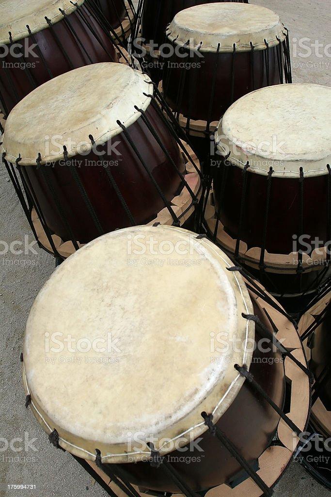 Korean Drums stock photo