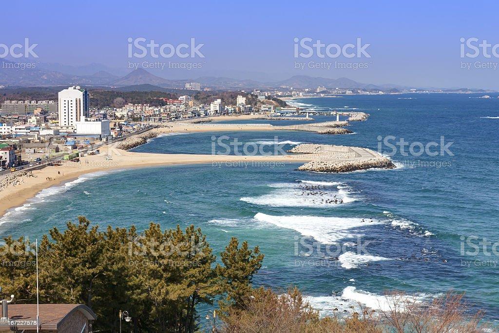 Korean east coastline royalty-free stock photo