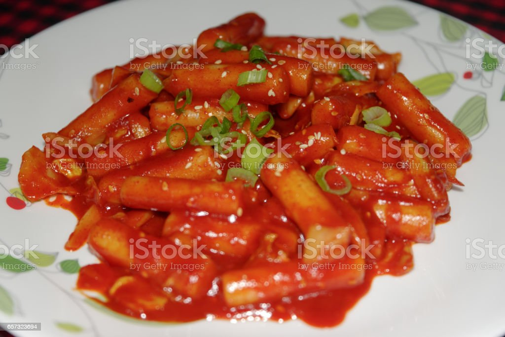 Korean food - Dukbokki or Tteok-bokki stock photo