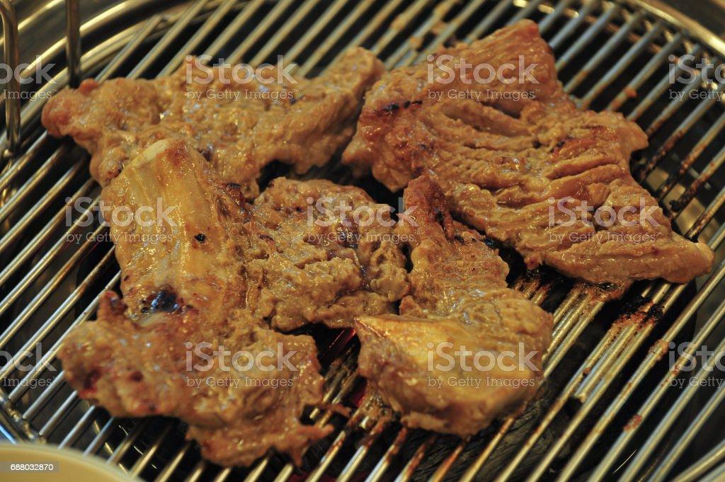 Korean food Pig ribs stock photo