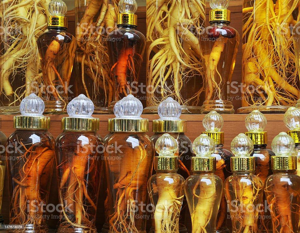 Korean Ginseng royalty-free stock photo