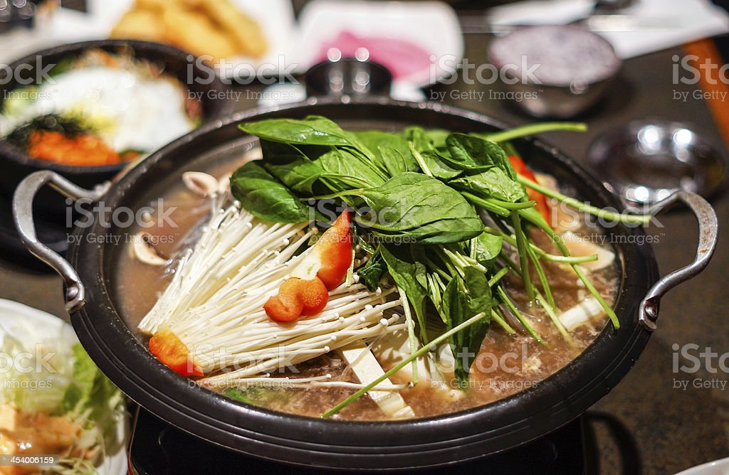 Korean Hot Pot stock photo