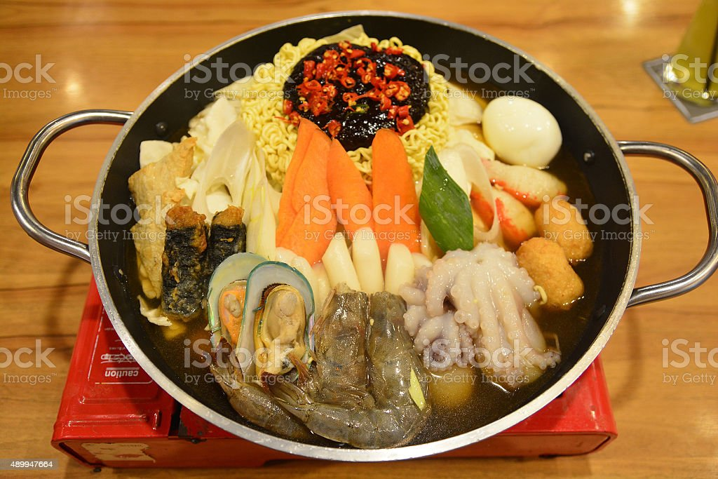 Korean hotpot stock photo