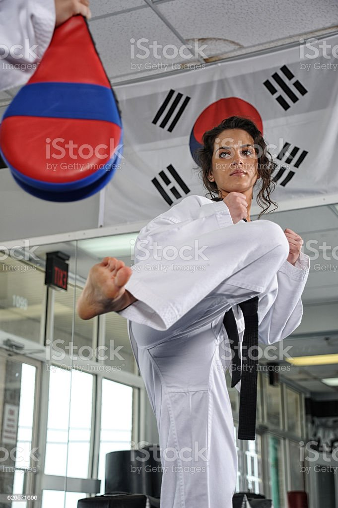Korean Karate Training stock photo