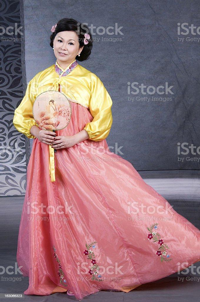 Korean lady royalty-free stock photo