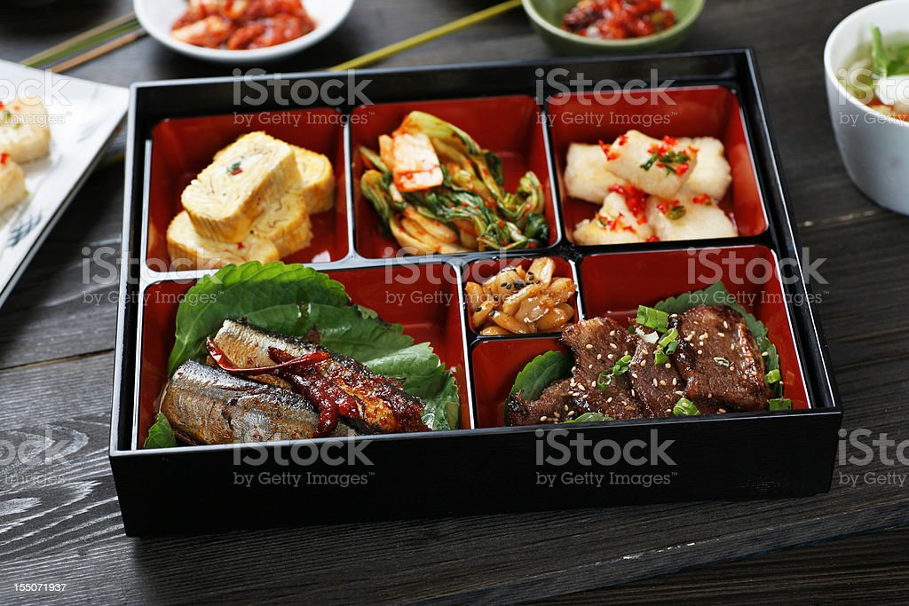 korean Lunch Box stock photo