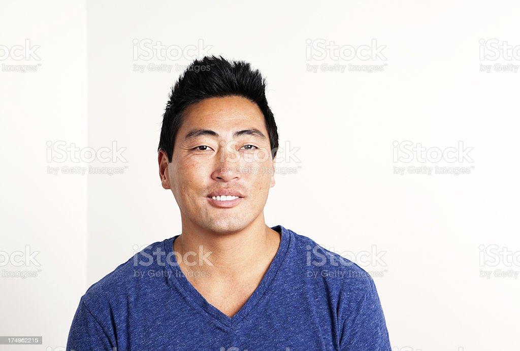 Korean Man Smiling royalty-free stock photo