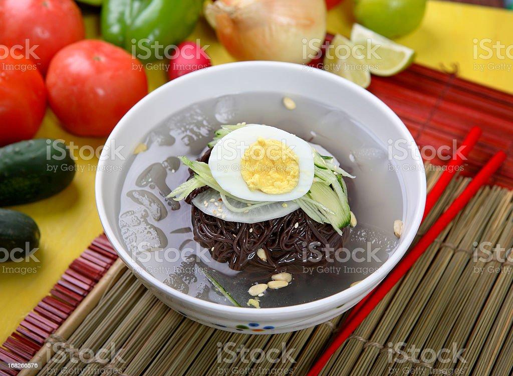 Korean Noodle royalty-free stock photo