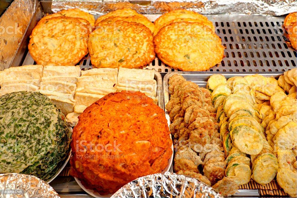 Korean pancake stock photo