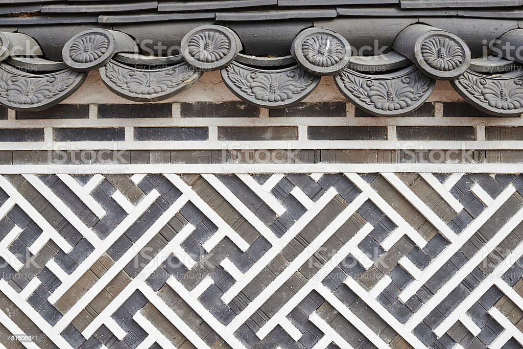 Korean Pattern and High Relief royalty-free stock photo