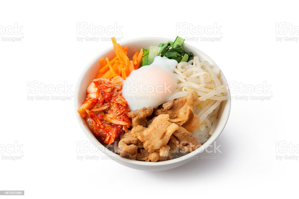 Korean rice dish / Bibimbap stock photo