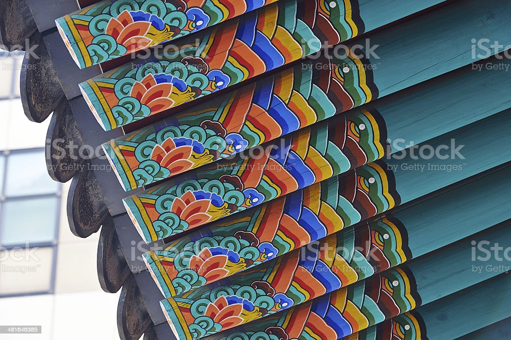 Korean Roof royalty-free stock photo