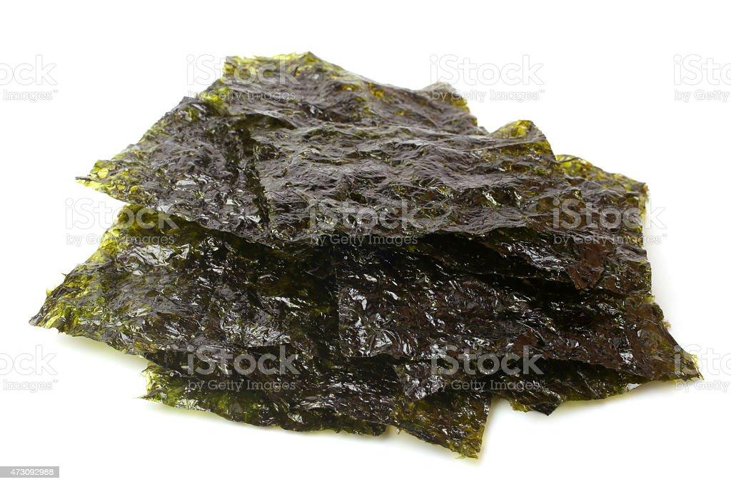 Korean seasoned dried laver stock photo