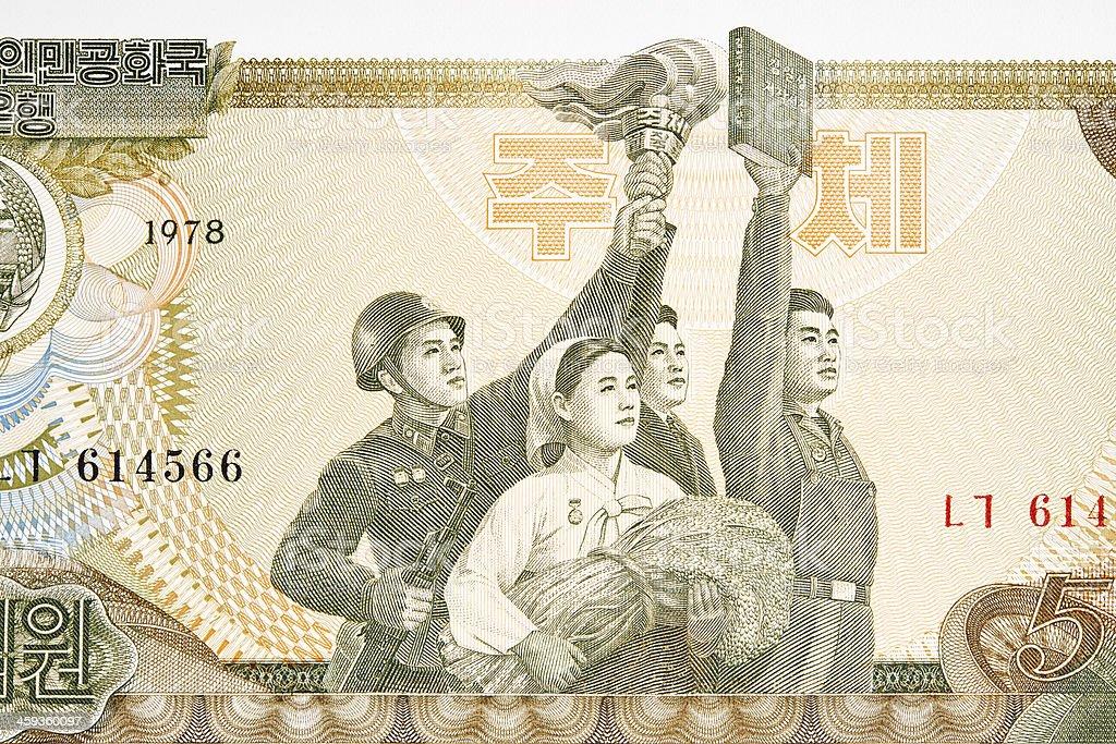 Korean Society on Banknote royalty-free stock photo