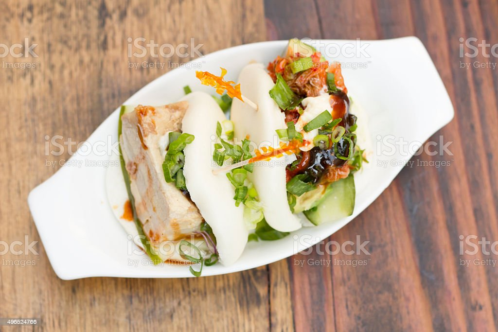 Korean Steamed Bun stock photo