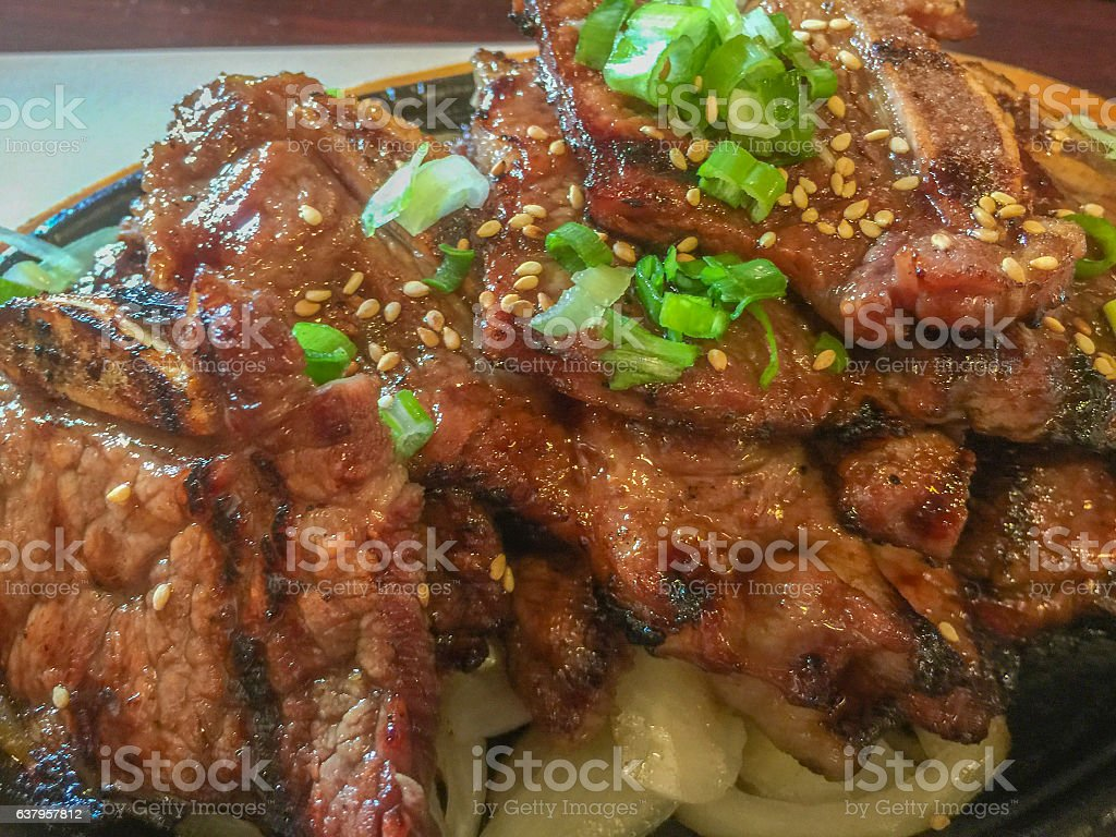 Korean style BBQ short ribs stock photo