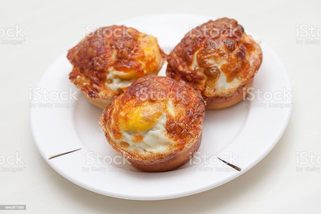 Korean Style Egg Cupcake stock photo