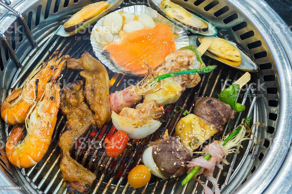 Korean style mix grilled royalty-free stock photo