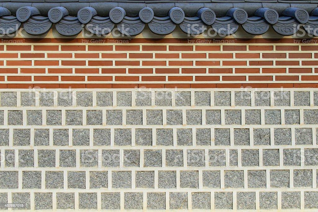 Korean style wall royalty-free stock photo