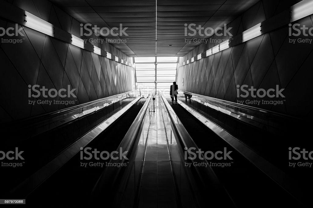 Korean Subway Station stock photo