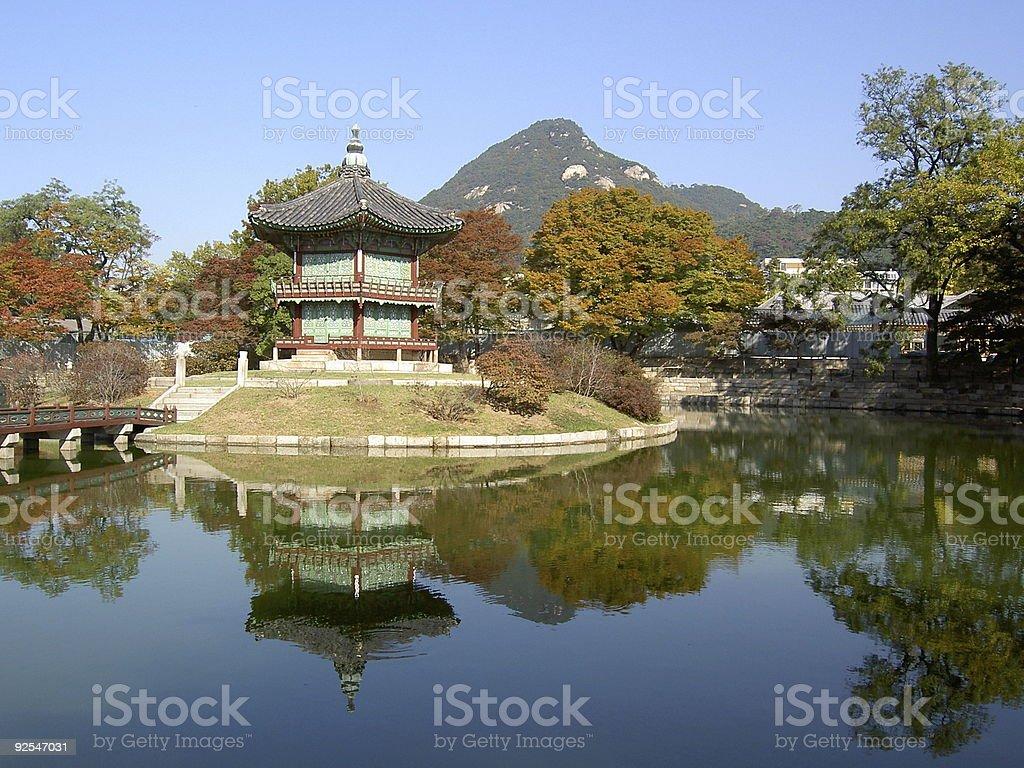 Korean temple, Emperors island royalty-free stock photo