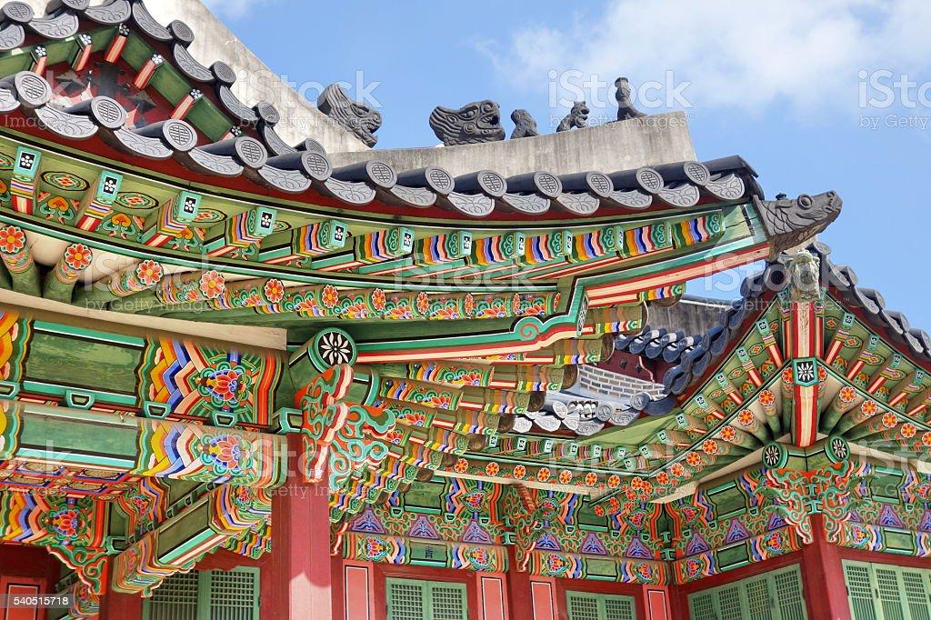 Korean traditional architecture stock photo