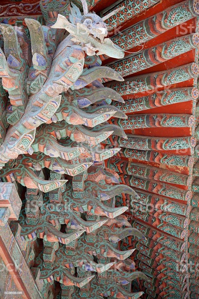 Korean traditional building stock photo