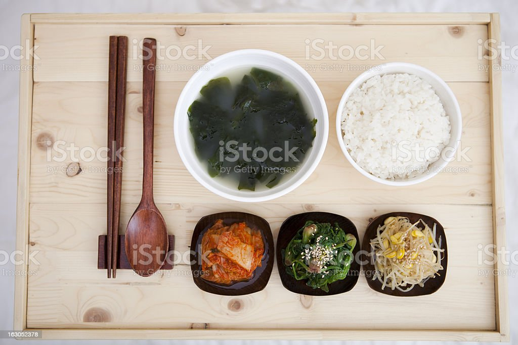 Korean traditional dining table royalty-free stock photo