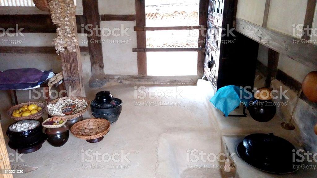 Korean traditional kitchen stock photo