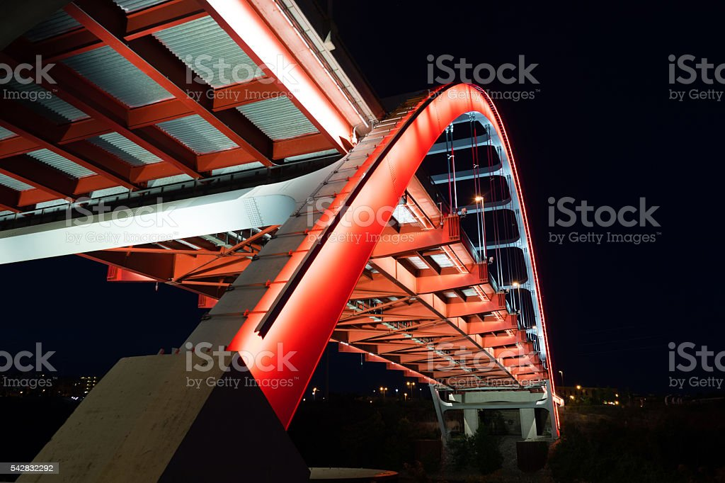 Korean Veterans Blvd Bridge Cumberland River Nashville Tennessee stock photo
