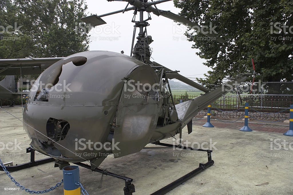 Korean War helicopter royalty-free stock photo