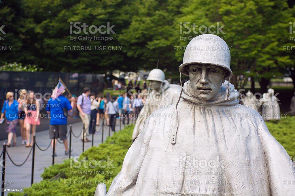 Korean War Memorial near National Mall in Washington, DC stock photo