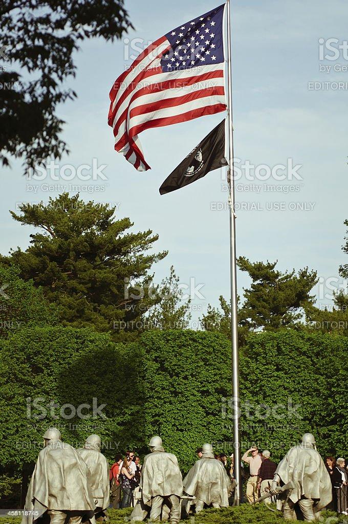 Korean War Memorial stock photo