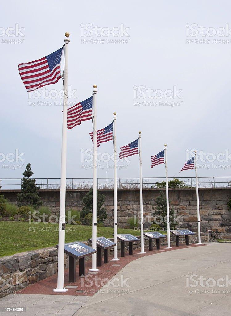 Korean War Memorial Worcester, Massachusetts stock photo