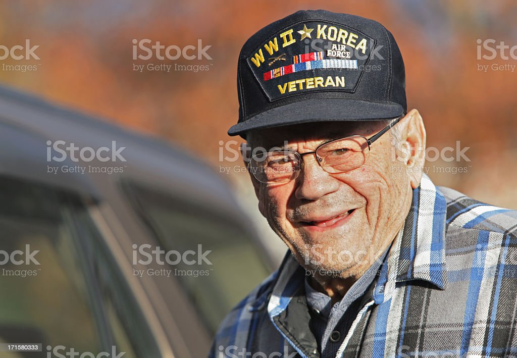 WWII Korean War Military Veteran stock photo
