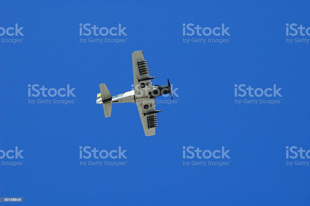 Korean War-era Douglas Skyraider royalty-free stock photo