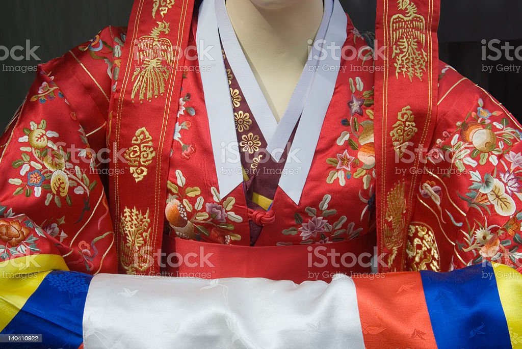 Korean wedding dress royalty-free stock photo