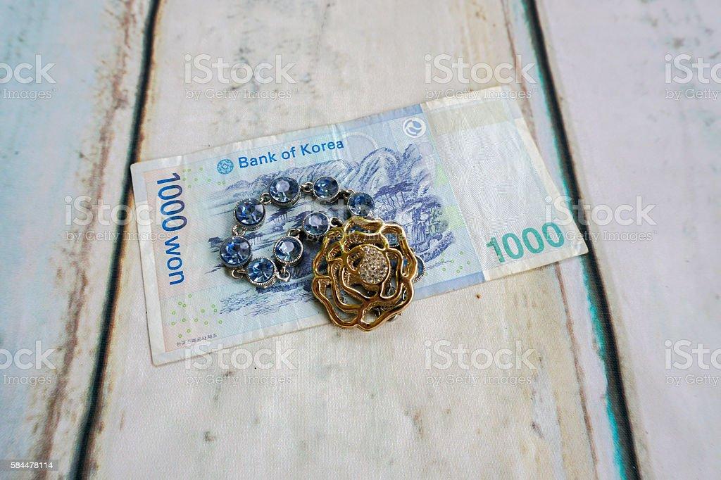 Korean wong and jewellery stock photo